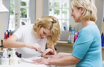Manicurists typically work in spas or nail salons.