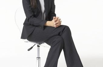 A nicely tailored suit is perfect for a receptionist interview.