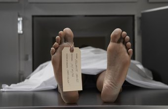 Medical examiners peform autopsies to determine time and cause of death.