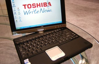Toshiba produces a wide variety of laptops, including a model with a swiveling screen.
