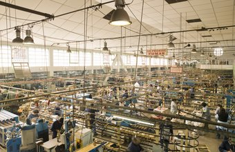 Large-scale factory manufacturing is a feature of commercial industries.