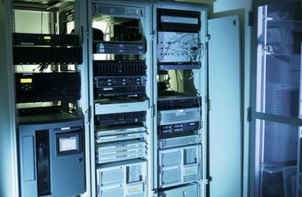 Computer servers are often stored in racks like these.