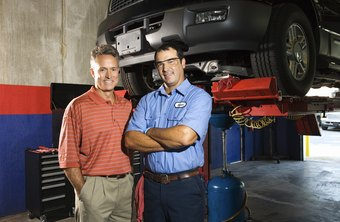 People skills are important for motor garage mechanics.