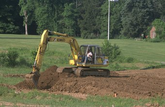Backhoes come in various sizes and models.