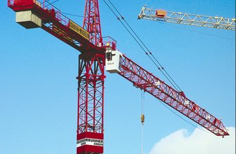 Industrial cranes are commonly used to move freight.
