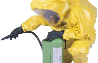 Hazmat technicians contain and dispose of toxic substances.