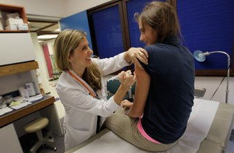 Pediatricians provide children with immunizations against various diseases.