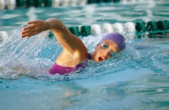 Swimming the freestyle stroke tones your abs and glutes.