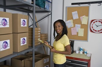 A supply clerk works behind the scenes to keep a business operating.
