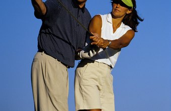 Golf coaches point developing players as well as pros in the right direction.