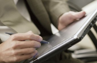 Tablet PCs allow for handwritten signatures in Excel documents.