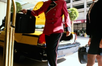 Assisting hotel guests is a bellboy's primary duty.