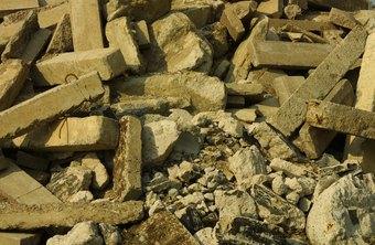 Old concrete can be crushed and reused as road building material.