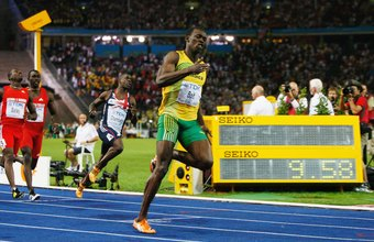 Usain Bolt sprinted the 100 meters in a world record 9.58 seconds in 2009.