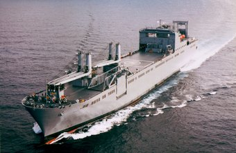 USNS Bob Hope, a civilian-crewed, Navy-owned ship, provides freight-related support for the military.