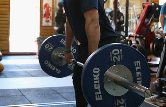 Pulling exercises include deadlifts, or versions of the Olympic lifts, such as cleans and high pulls.