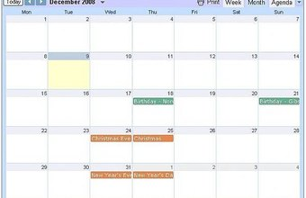 Calendars on your Web or Blog