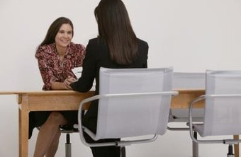 Two women at a job interview