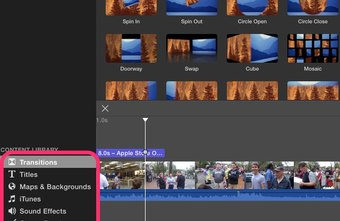 Use iMovie tools and transitions to turn your videos into a movie.