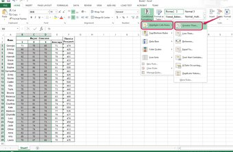 Easily analyze your data using Excel Conditional Formatting Rules.