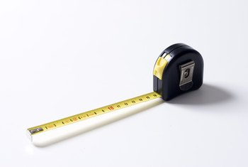 Use a tape measure to calculate square footage.
