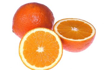 Oranges contain calcium and vitamin A.