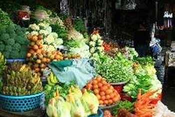 Vegetables and fruits are rich sources of fiber.
