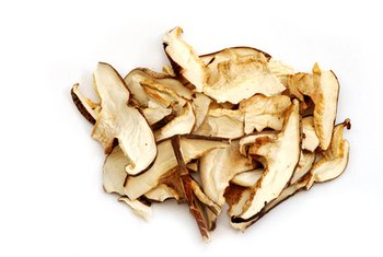 Shiitake mushrooms provide a source of vitamins B-2 and B-3.