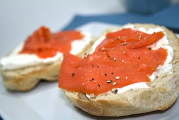 Add lox to a bagel for a quick meal.