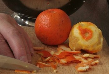 Orange marmalade is prepared with orange peels.