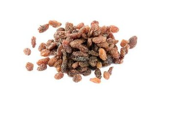 One fourth-cup of raisins packs a daily serving of fruit.