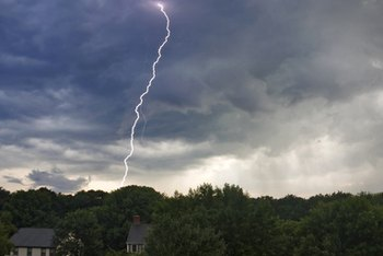 If lightning strikes your house, homeowners insurance may cover the damage.