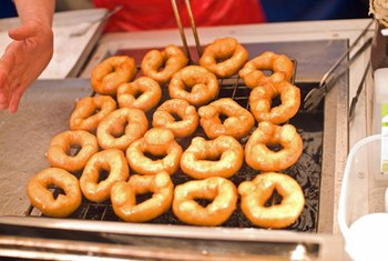 Fried foods, such as doughnuts, are sources of trans fatty acids.