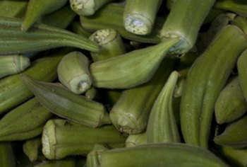 A 1/2-cup serving of okra contains 18 calories.