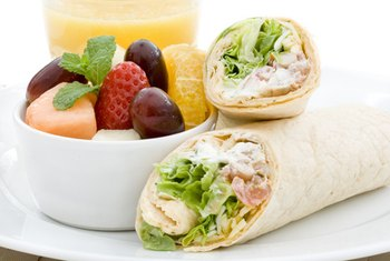A healthy wrap makes a nutritious and kid-friendly lunch.