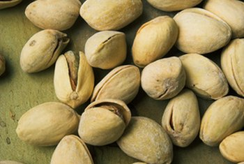 A 1-ounce serving of pistachios contains 160 calories.