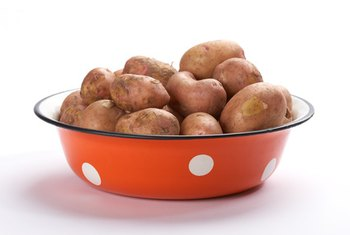 Steamed new potatoes are a significant source of dietary fiber.