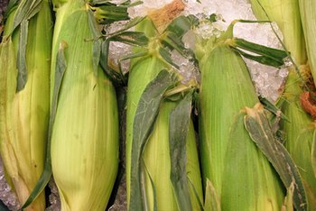 White sweet corn is a healthy source of fiber.