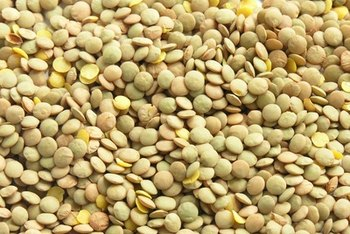 Lentils pair well with whole grain rice in meals.