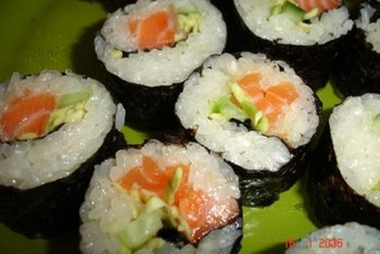 Sticky rice is often used for sushi.