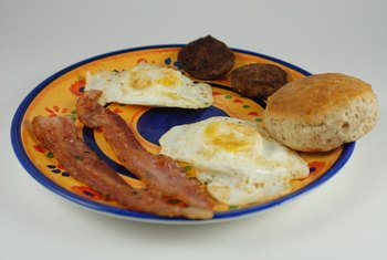Many common breakfasts are loaded with fat.
