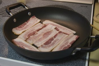 Bacon is high in saturated fat.