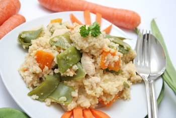 Whole-wheat couscous is good by itself or mixed with other foods.