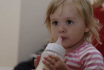 Most 1-year-olds need whole milk instead of skim milk.