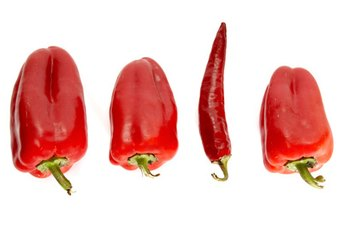 Red peppers are sources of immune-supporting nutrients.