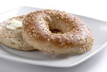 Whole-wheat bagels are a significant source of dietary fiber and several important minerals.