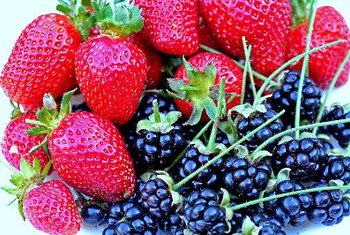 Flavonoids give berries their vibrant colors.