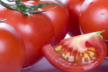 Tomatoes contain the phytochemical lycopene.