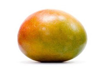 The mango contains a high amount of beneficial carbs.