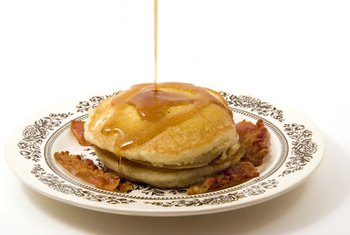 Syrup adds several grams of sugar to your pancake breakfast.